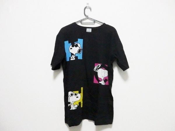 ICEBERG(アイスバーグ) 半袖Tシャツ サイズS メンズ 黒×マルチ PEANUTS