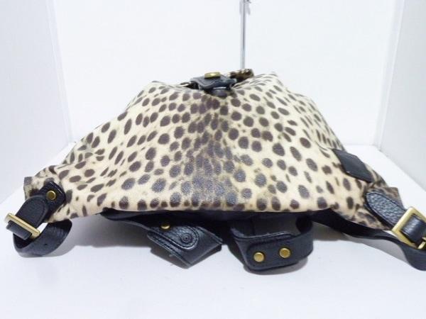 EVER KHAKI(エバーカーキ) リュックサック アイボリー×ダークブラウン×黒 豹柄