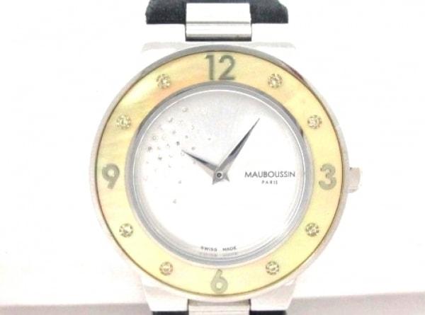 モーブッサン 腕時計美品  アムールルジュールスレーヴ 9112100 レディース シルバー