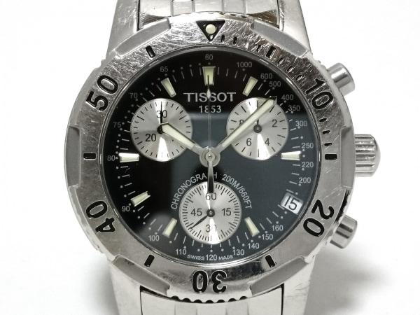 TISSOT(ティソ) 腕時計 T362 メンズ 黒×シルバー