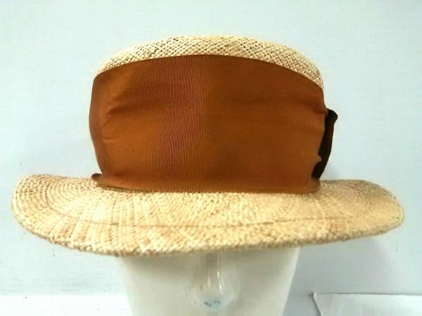 MANIERA(マニエラ) 帽子 M ライトブラウン×ブラウン パオ草