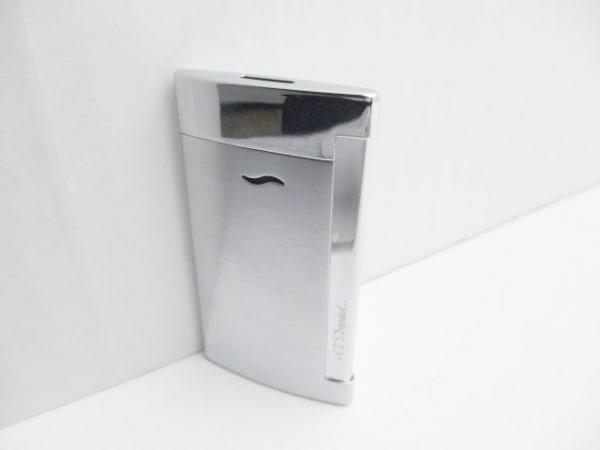 Dupont(デュポン) ライター美品  シルバー 着火確認済み 金属素材