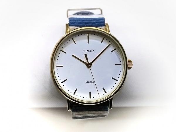 TIMEX(タイメックス) 腕時計 CR2016 レディース ボーダー 白