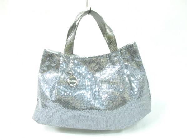 TAMBU(タンブゥ) ハンドバッグ シルバー プラスチック×合皮