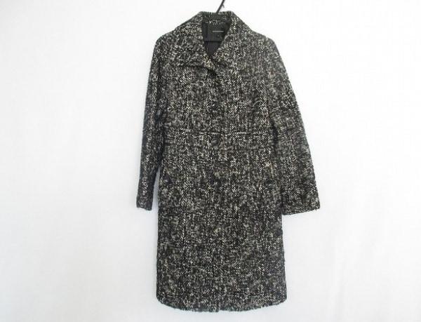 QUEENS COURT(クイーンズコート) コート サイズ2 M レディース美品  黒×白 冬物