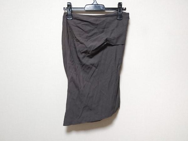 halston(ホルストン) スカート サイズ4 XL レディース ダークグレー HERITAGE
