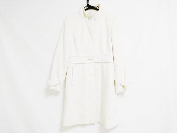 【中古】 キスミス Xmiss コート サイズ35 レディース 美品 アイボリー 冬物