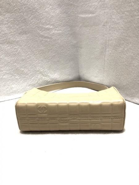 シャネル ハンドバッグ チョコバー ベージュ ココマーク型押し 4