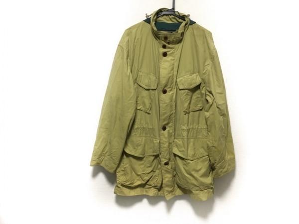 ヘンリーコットンズ コート サイズ48 XL メンズ イエロー×グリーン 春・秋物