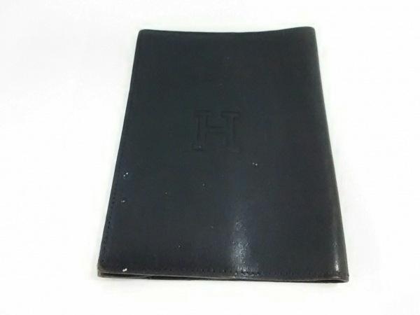 HIROFU(ヒロフ) 小物 黒 ブックカバー レザー