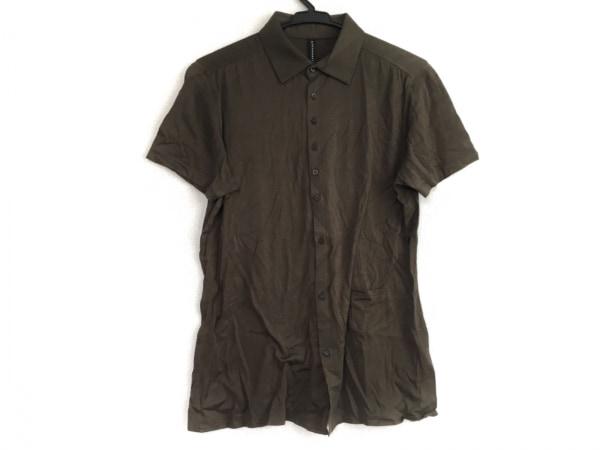 ブラックバレットバイニールバレット 半袖シャツ サイズ2 M メンズ ダークグリーン