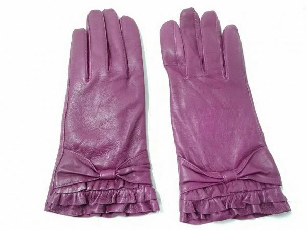 DENTS(デンツ) 手袋 7 レディース美品  パープル レザー