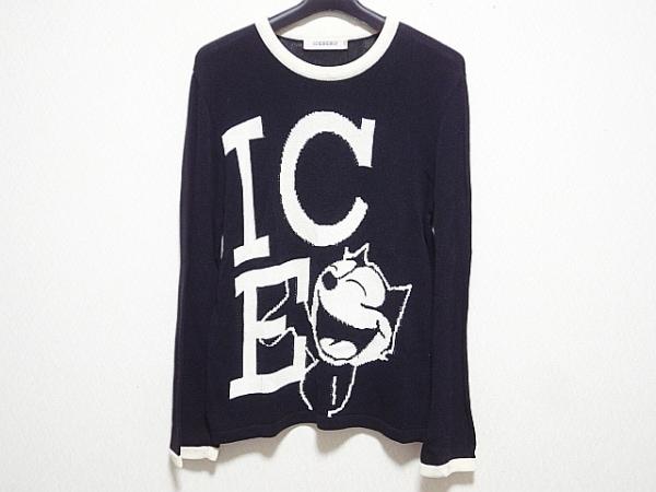 ICEBERG(アイスバーグ) 長袖セーター メンズ 黒×アイボリー