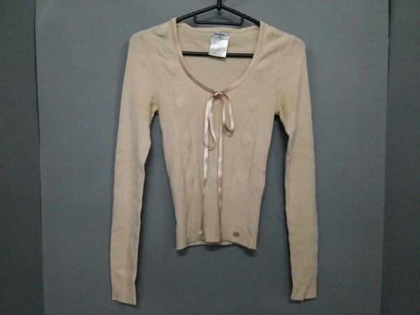 CHANEL(シャネル) 長袖セーター サイズ34 S レディース ベージュ リボン