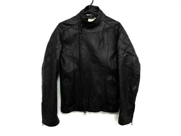 バークタンネイジ ライダースジャケット サイズ46 XL メンズ ダークブラウン