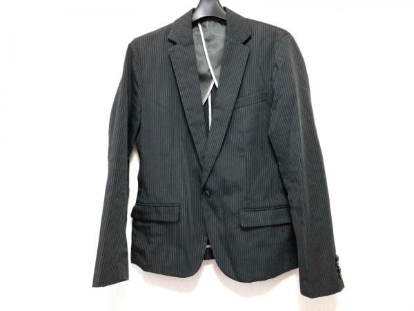 カスタムカルチャー ジャケット サイズ40 M メンズ美品  ダークグレー×白 ストライプ