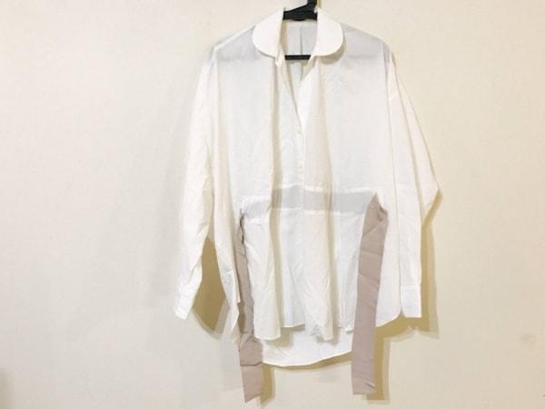 sakayori(サカヨリ) 長袖シャツブラウス レディース美品  白×ベージュ