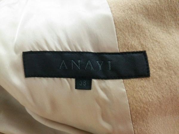 ANAYI(アナイ) コート サイズ38 M レディース ライトブラウン カシミヤ/冬物