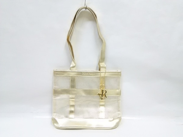 NINARICCI(ニナリッチ) トートバッグ 白×ゴールド 合皮×化学繊維