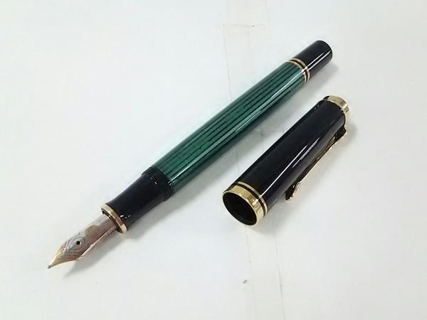 ペリカン 万年筆美品  スーベレーン グリーン×黒×ゴールド プラスチック×金属素材