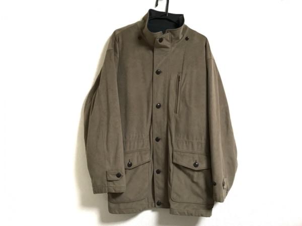 LOUIS CHAVLON(ルイスシャブロン) コート サイズL メンズ ブラウン×カーキ 冬物