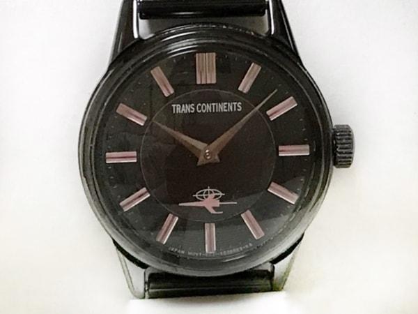 TRANS CONTINENTS(トランスコンチネンス) 腕時計美品  6031-S023165 レディース 黒