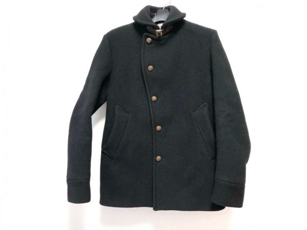 エディフィス コート サイズ38 M メンズ 黒×ダークブラウン 冬物/ショート丈
