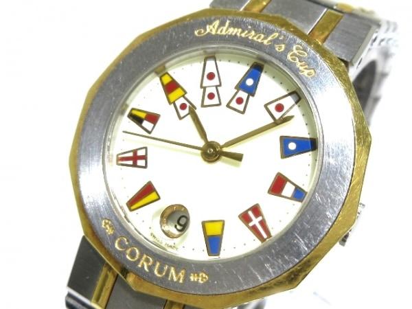 コルム 腕時計 アドミラルズカップ 39.610.21 V-52 レディース アイボリー×マルチ