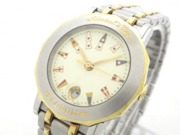 コルム 腕時計 アドミラルズカップ 39.130.21 V585 レディース アイボリー×マルチ