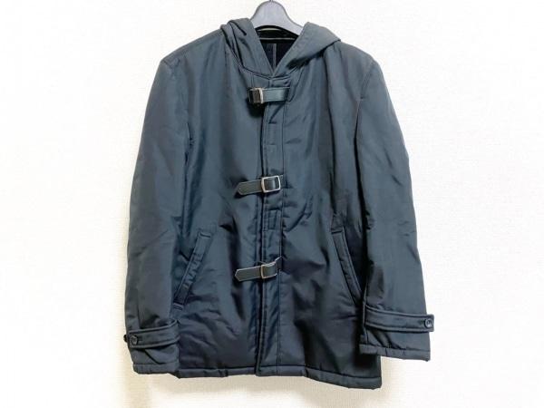JUN MEN(ジュンメン) コート サイズL メンズ 黒 ショート丈/冬物