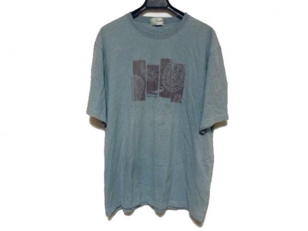 【中古】 クロコダイル CROCODILE 半袖Tシャツ サイズLL メンズ ライトグリーン ボルドー