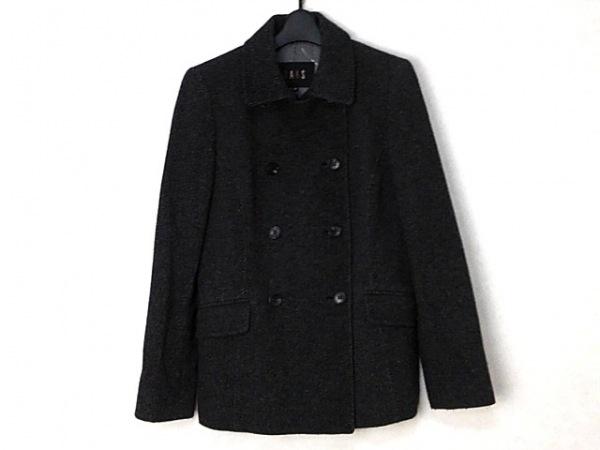 DAKS(ダックス) コート サイズ38 L レディース グレー×黒