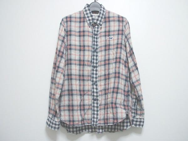 ティグルブロカンテ 長袖シャツ サイズXS メンズ ネイビー×レッド×グレー