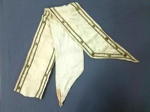 YARNZ(ヤーンツ) スカーフ アイボリー×ゴールド ビーズ