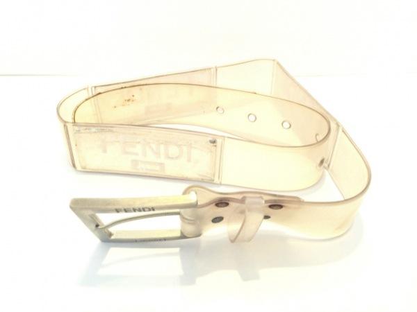 FENDI jeans(フェンディ) ベルト クリア×シルバー ラバー×金属素材
