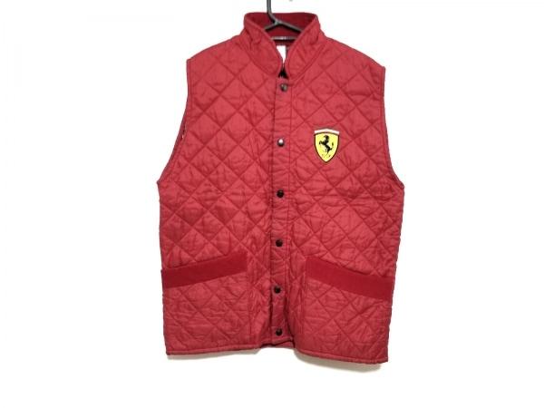 Ferrari(フェラーリ) ダウンベスト サイズM メンズ レッド 冬物