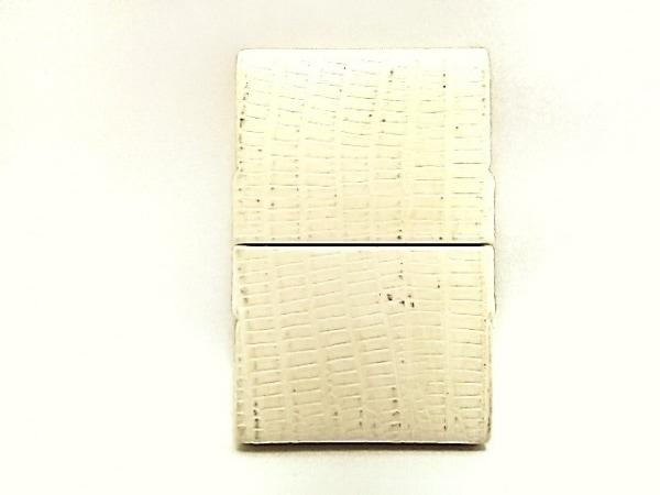 GIORGIOFEDON(ジョルジオフェドン) 小物入れ アイボリー 型押し加工 レザー