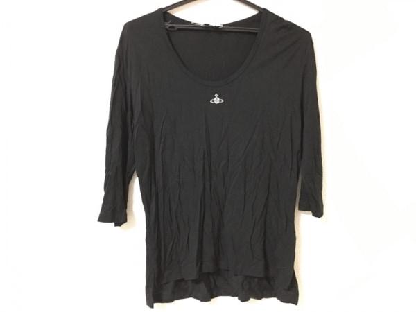 ヴィヴィアンウエストウッドマン 七分袖Tシャツ サイズ46 XL メンズ美品  黒