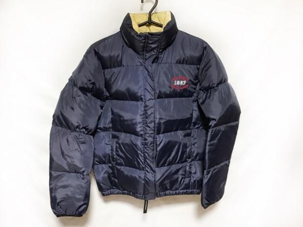 ポロジーンズ ダウンジャケット レディース美品  ネイビー 冬物/ジップアップ