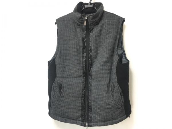 barassi(バラシ) ダウンベスト サイズ48 XL メンズ 黒×ダークグレー 千鳥格子/冬物
