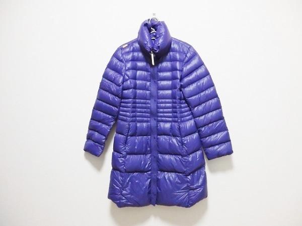 CBY(シービーワイ) ダウンコート サイズ44 L レディース パープル +WHITE/冬物