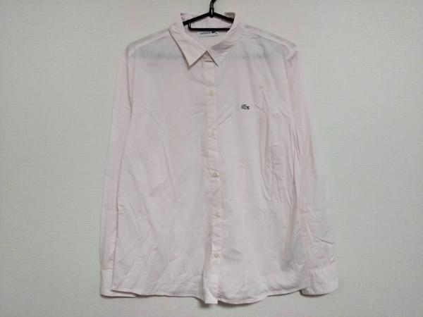 Lacoste(ラコステ) 長袖シャツブラウス サイズ40 M レディース美品  ピンク