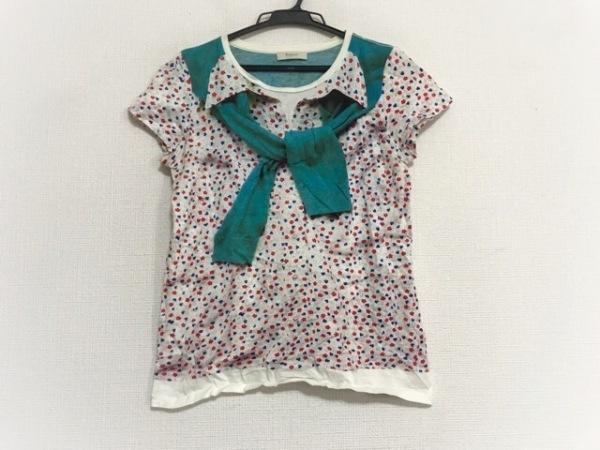 ポールスミス 半袖Tシャツ サイズS レディース美品  グリーン×マルチ PAUL