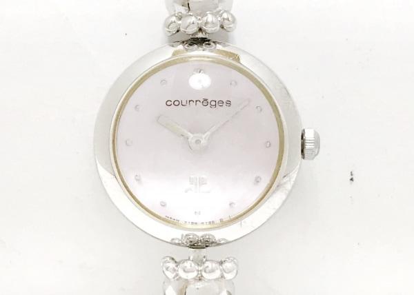 COURREGES(クレージュ) 腕時計 Y150-0040 レディース 花柄 ピンク