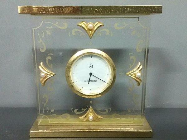 mikimoto(ミキモト) 小物 クリア×ゴールド×アイボリー 置時計(動作確認できず)