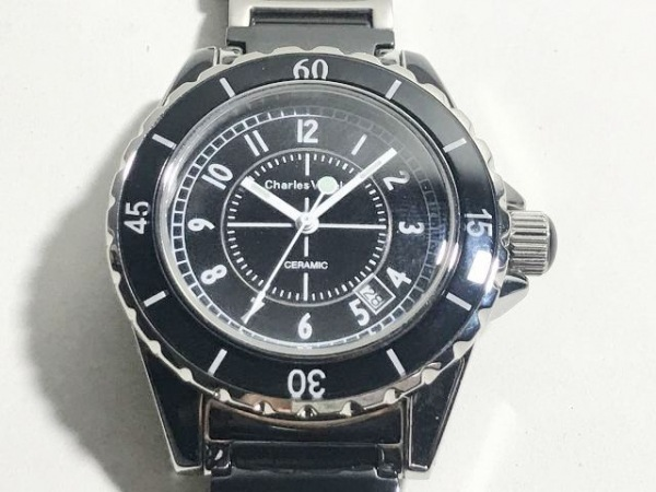 CharlesVogele(シャルルホーゲル) 腕時計 CV-7843 メンズ 黒