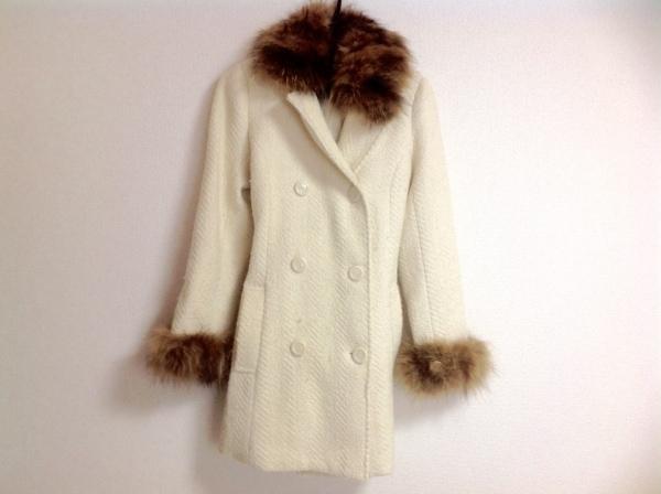 Salire(サリア) コート サイズ38 M レディース アイボリー×ブラウン 冬物