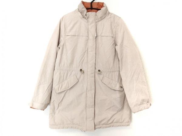 アーノルドパーマー ダウンジャケット サイズ2 M レディース ベージュ×オレンジ