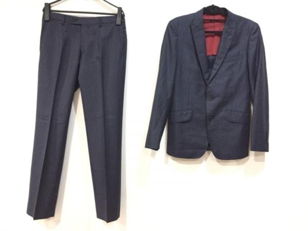 コンプリート シングルスーツ サイズ2 M メンズ ネイビー×グレー×パープル