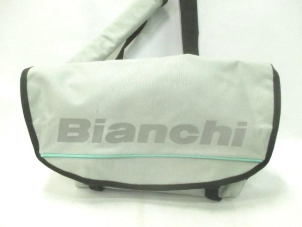 Bianchi(ビアンキ) ショルダーバッグ ライトグレー×黒 ナイロン